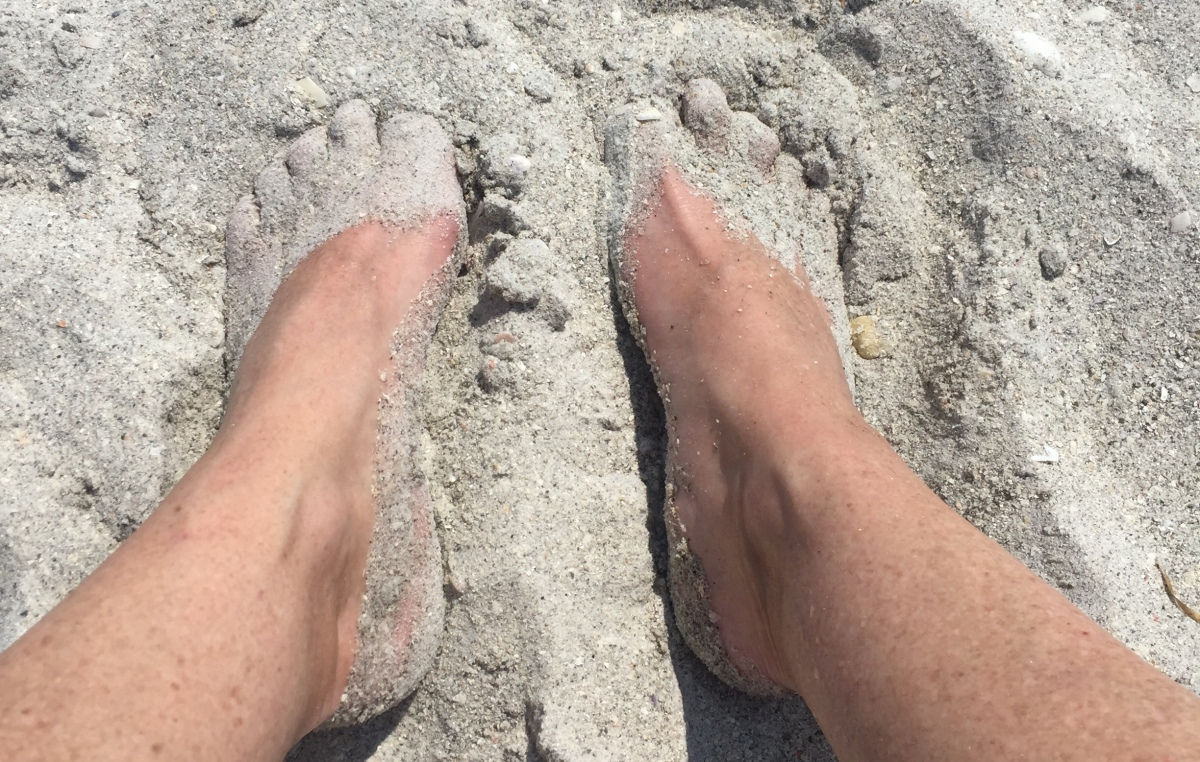 toes in the sand myironhorsejourney